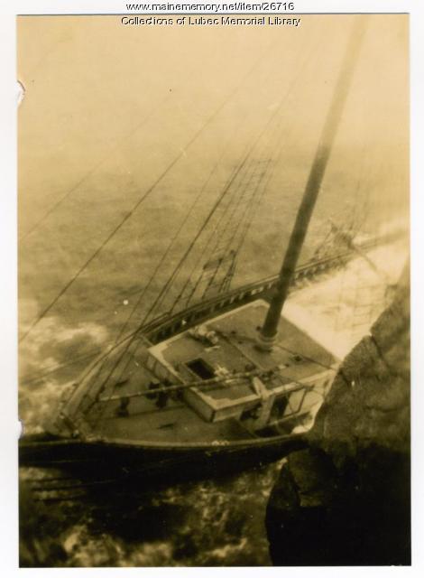 Schooner Whitebelle Wreck, Lubec, 1931