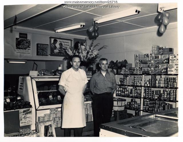 Phil Morrison, Charles Sheehan, Lubec, ca. 1950