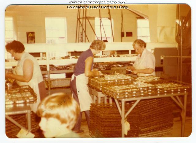 Sardine packers, Lubec, ca. 1976