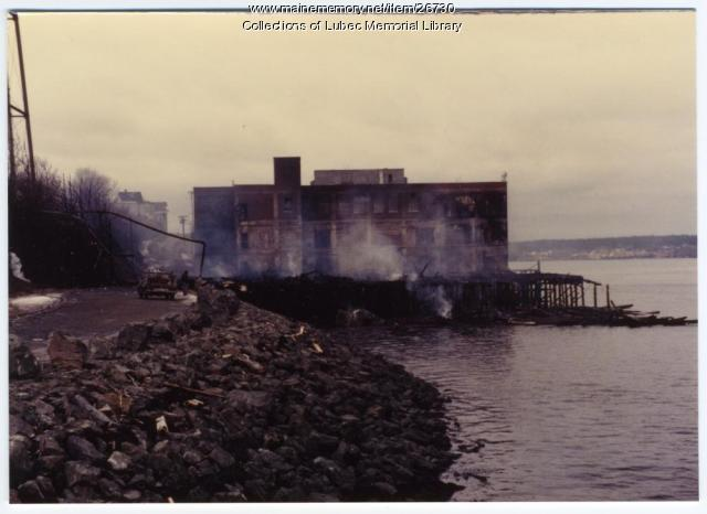 American Can Company Fire, Lubec, 1983