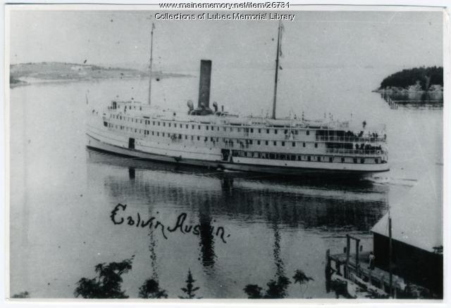 Steamship Calvin Austin, Lubec, 1903