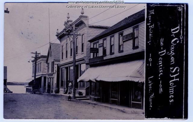 Mowry Building, Water Street, Lubec, ca. 1909