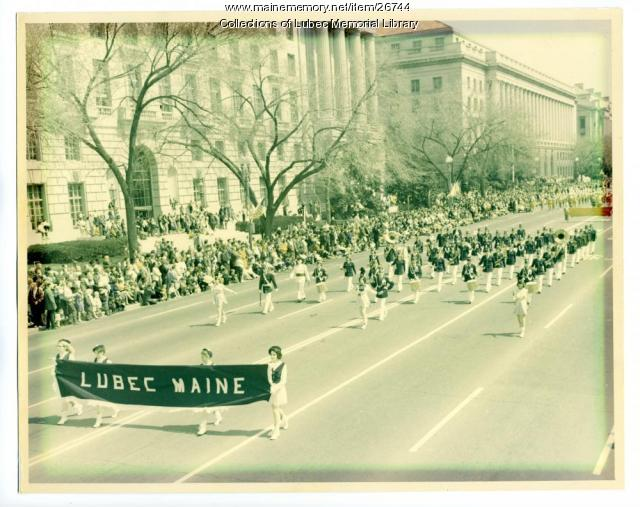 Lubec High School Band, Washington, D.C., 1965