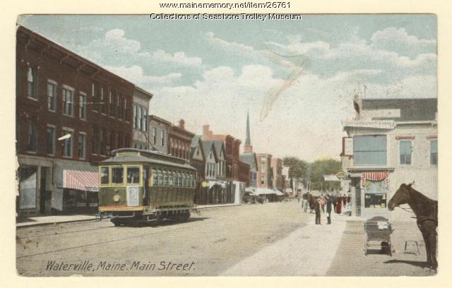 Waterville, Main Street, ca. 1910