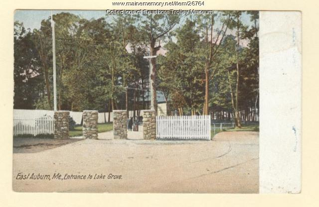 East Auburn, Entrance to Lake Grove, ca. 1905