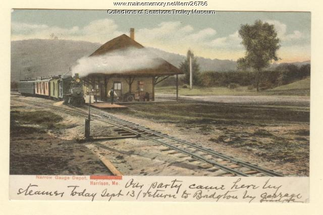 Narrow Gauge Depot, Harrison, ca. 1907