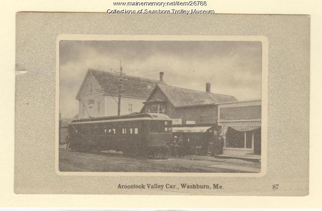 Aroostook Valley Car, Washburn, ca. 1910