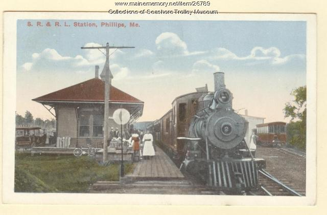 Narrow Gauge Depot, Phillips, ca. 1910