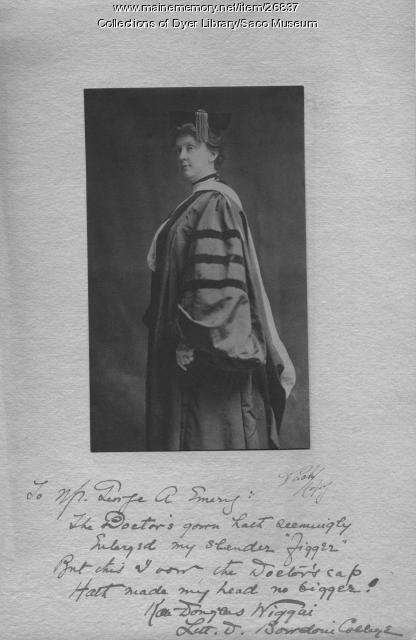 Kate Douglas Wiggin, Brunswick, 1904