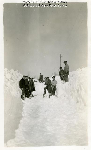 CCC snow removal, Alfred, ca. 1934
