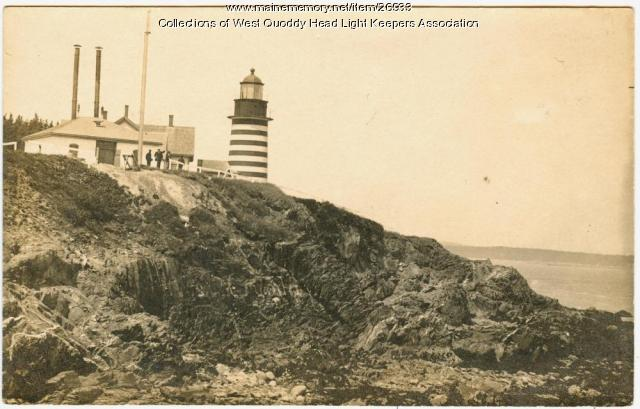 Lubec, West Quoddy Head Lighthouse, ca. 1900