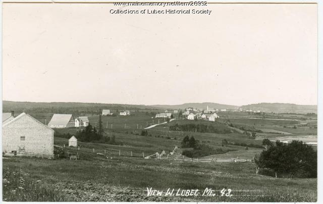 West Lubec view, Lubec, ca 1915