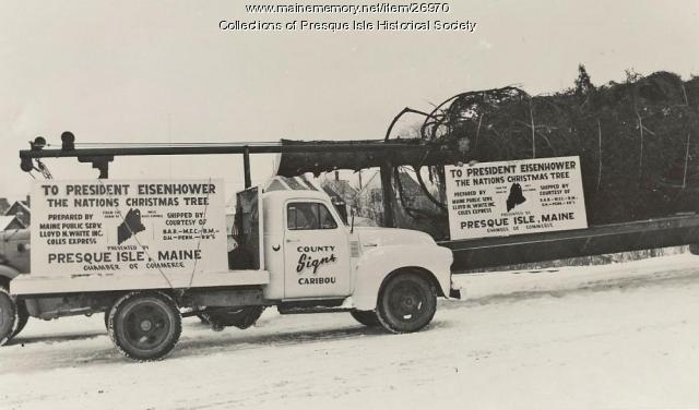 National Community Christmas Tree, Presque Isle, 1959