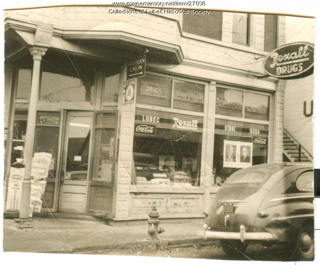 Rexall Drugstore, Lubec, ca. 1950