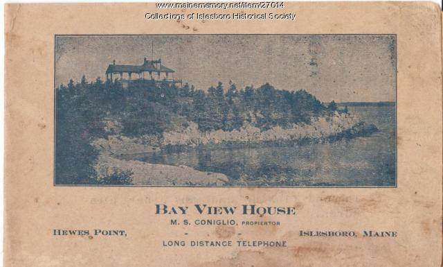 Bay View House Booklet, Islesboro, ca. 1920