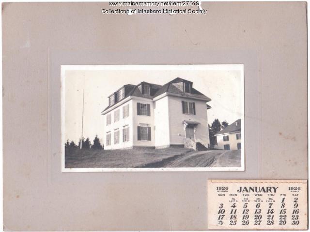 Town Hall calendar, Islesboro, 1926