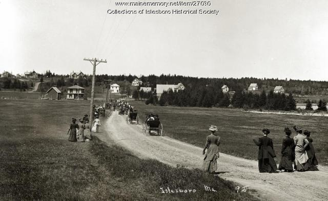 Hewes Point Road, Islesboro, 1909