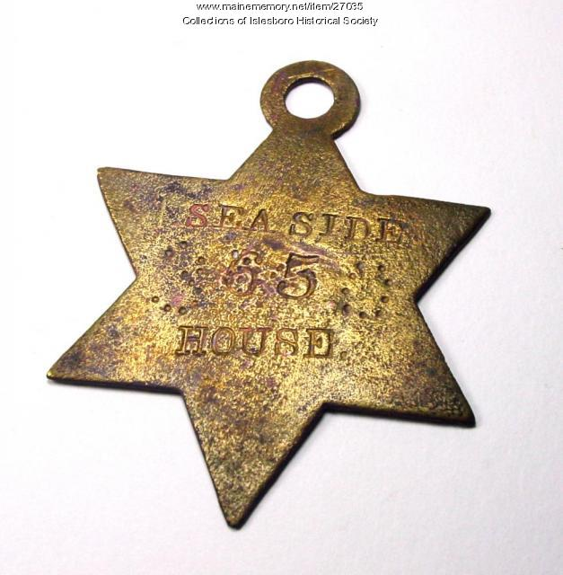 Seaside House Key Tag, Islesboro, ca. 1900