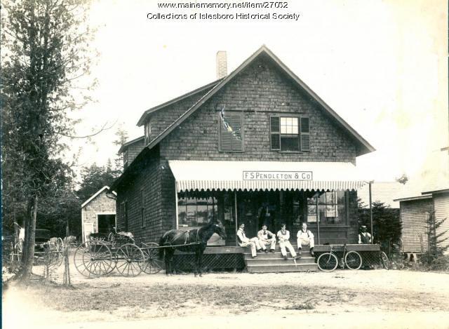 F.S. Pendleton Store, Dark Harbor, Islesboro, ca. 1890