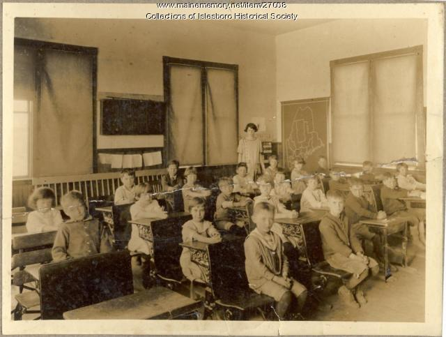 Dark Harbor Schoolchildren, Isleboro, ca. 1920