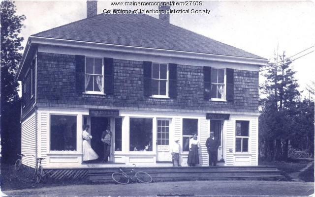 Dark Harbor Post Office, Islesboro, ca. 1900