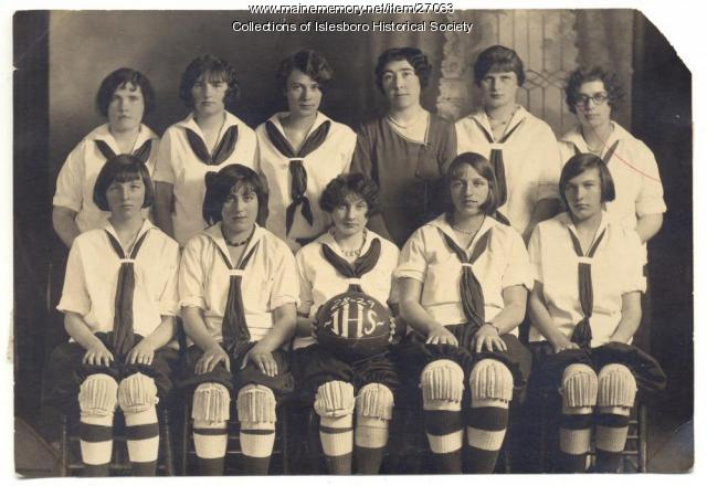 Islesboro High School girls' basketball team, 1928