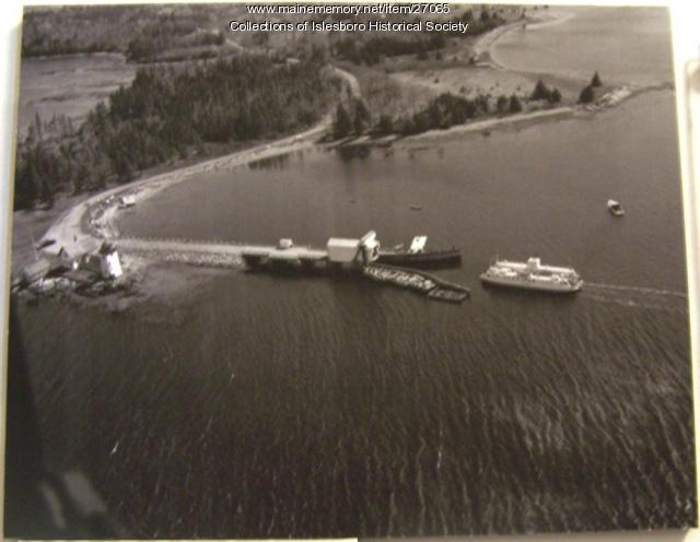 Governor Brann Ferry, aerial view, ca. 1950