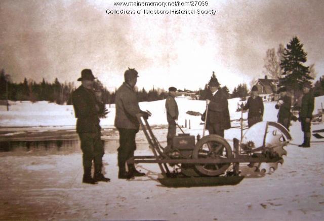 Ice Cutting, Islesboro, ca. 1920
