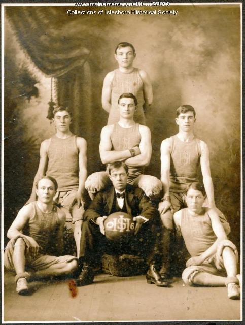 Islesboro High School Boys' Basketball Team, 1906