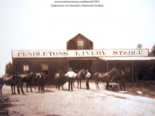 Pendletons' Livery Stable, Islesboro, ca. 1904