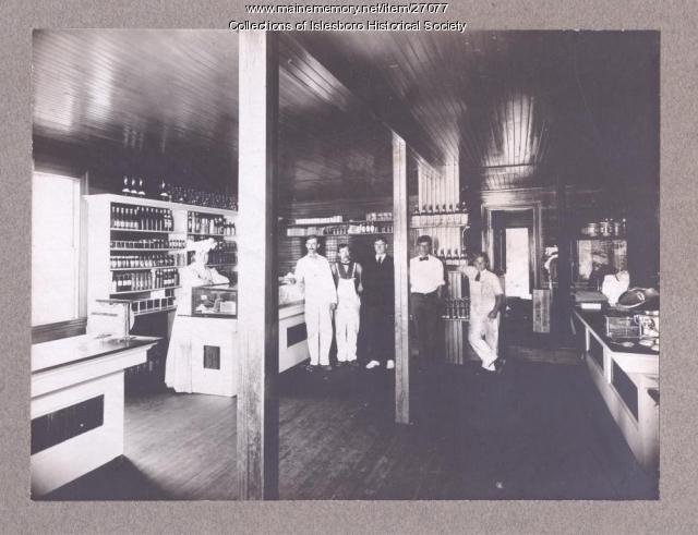 F.S. Pendleton Store, interior, Dark Harbor, ca. 1900
