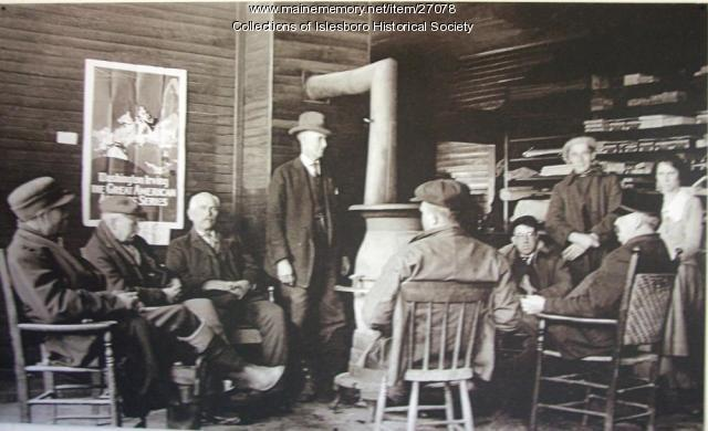 F.S. Pendleton and Company Store, interior, Islesboro, ca. 1930