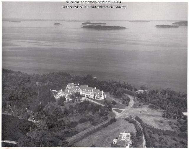 Second Islesboro Inn, aerial view, ca. 1950