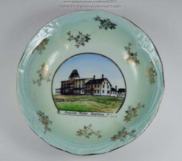 Seaside Hotel Commemorative Plate, ca. 1900