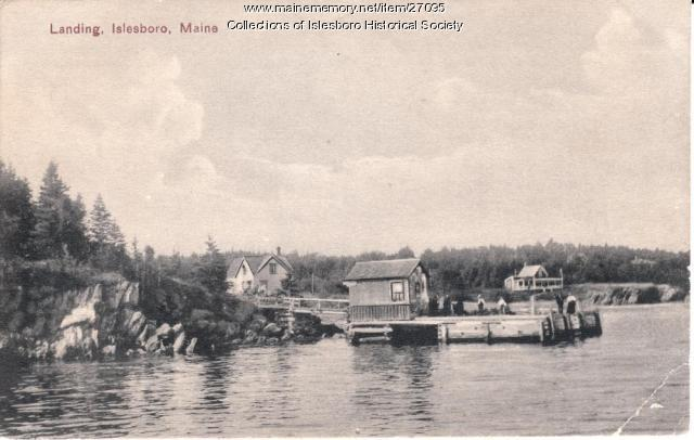 Hewes Point Landing, Islesboro, ca. 1910