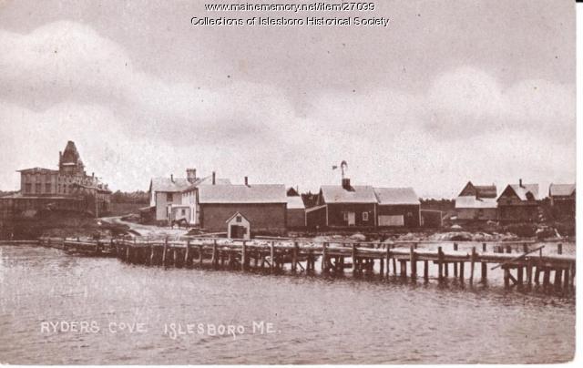 Ryder's Cove Wharf, Islesboro, c. 1911