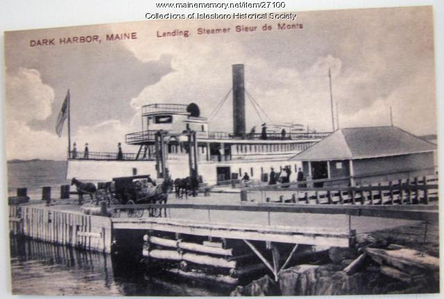 Sieur de Monts Steamboat, Islesboro, ca. 1901
