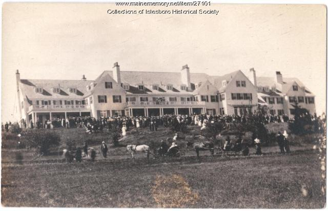Theodore Roosevelt on Islesboro, 1917