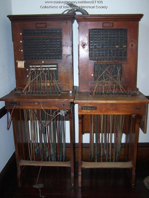 Telephone Switchboard, Islesboro, ca. 1915