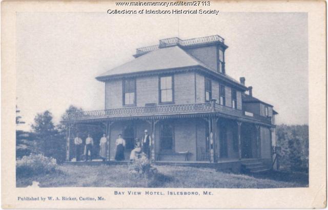 Bay View Hotel, Islesboro, ca. 1890