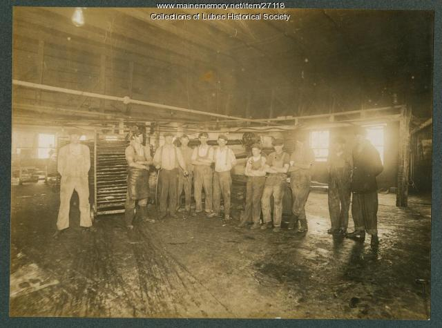 Sardine factory, North Lubec, ca. 1900