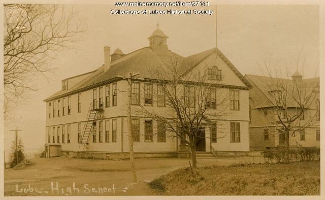 High school, Lubec, ca. 1910