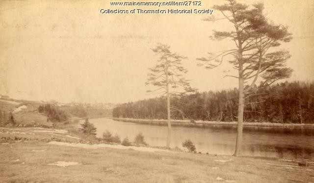 Looking southeast down the Georges River, Thomaston, ca. 1870