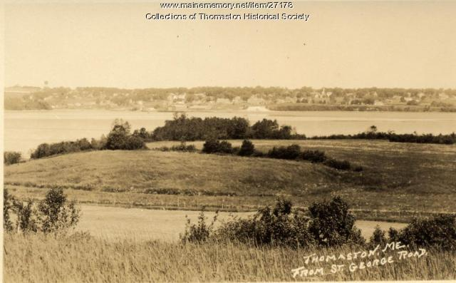 Thomaston Harbor from St. George Road, Thomaston, ca. 1930
