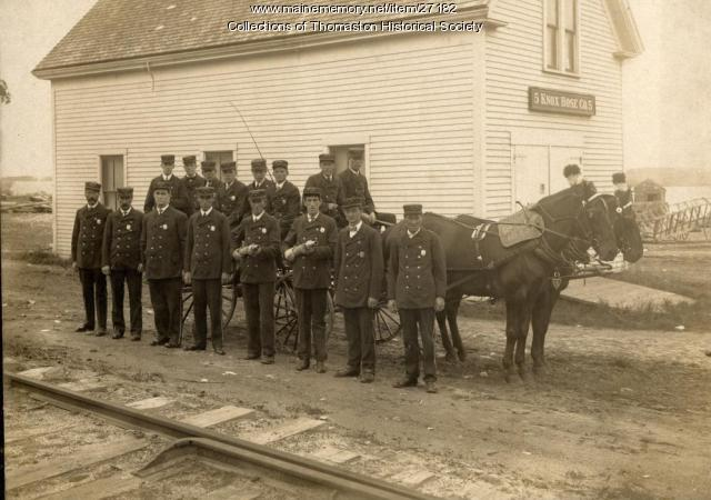 Knox Hose Company No. 5, Thomaston, 1909