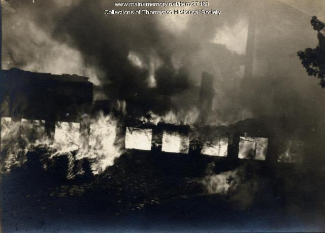 Prison Fire, Thomaston, 1923