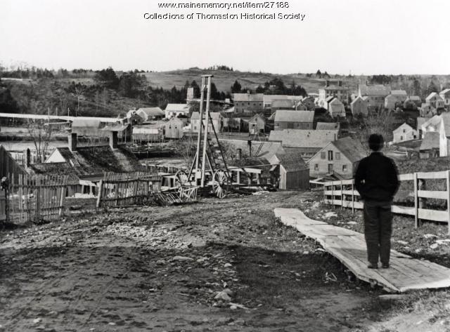 Looking down Elliot Street, Thomaston, 1870