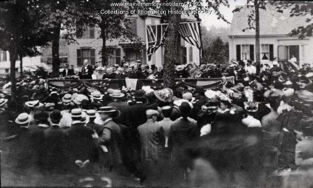 Waymouth Memorial Dedication at Mall, Thomaston, 1905