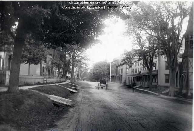 Looking East on Main Street, Thomaston, 1895
