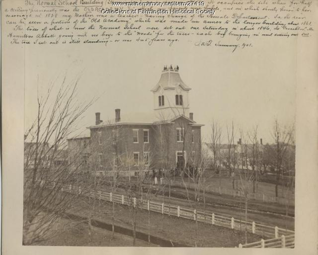 Farmington State Normal School, 1870